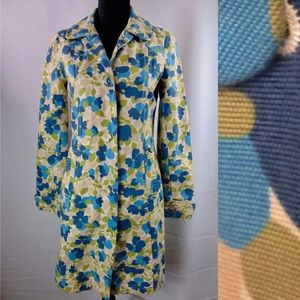 Beautiful vintage-style floral trench coat